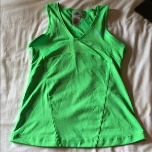 Green Athletic Tank Adidas